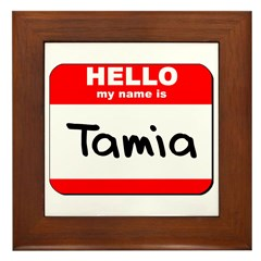 Hello my name is Tamia Framed Tile