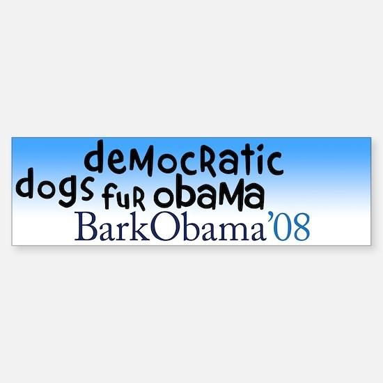 Democratic dogs fur Obama bumper sticker