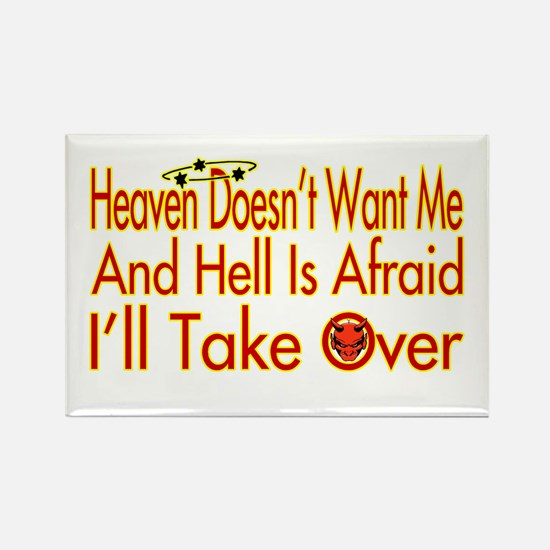 Heaven And Hell Rectangle Magnet