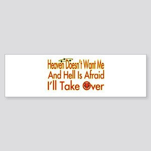 Heaven And Hell Bumper Sticker