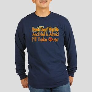 Heaven And Hell Long Sleeve Dark T-Shirt