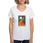 Witchcraft Halloween Women's V-Neck T-Shirt