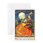 Witchcraft Halloween Greeting Card