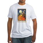 Witchcraft Halloween Fitted T-Shirt