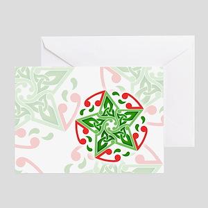 Celtic Christmas Star Greeting Card