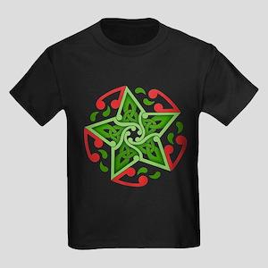 Celtic Christmas Star Kids Dark T-Shirt