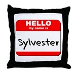 Hello my name is Sylvester Throw Pillow