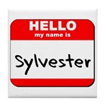 Hello my name is Sylvester Tile Coaster