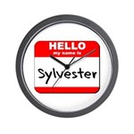 Hello my name is Sylvester Wall Clock