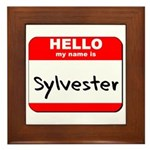 Hello my name is Sylvester Framed Tile