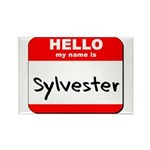 Hello my name is Sylvester Rectangle Magnet (10 pa