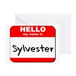 Hello my name is Sylvester Greeting Cards (Pk of 2