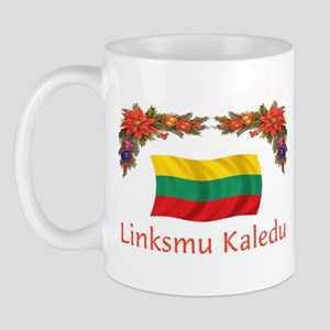 Lithuania Linksmu Kaledu 2 Mug