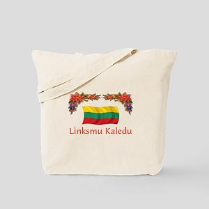 Lithuania Linksmu Kaledu 2 Tote Bag