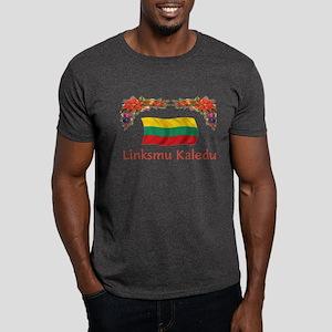 Lithuania Linksmu Kaledu 2 Dark T-Shirt