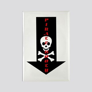 Naughty Pirate Booty Rectangle Magnet