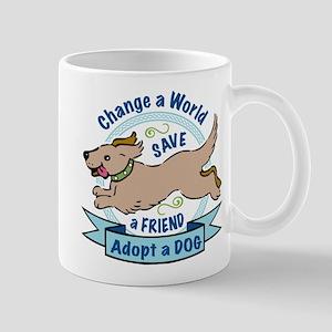 Adopt a Dog Full Color Design Mugs