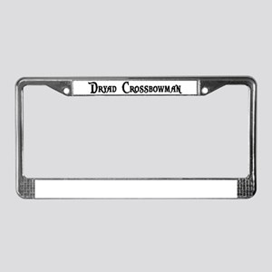Dryad Crossbowman License Plate Frame