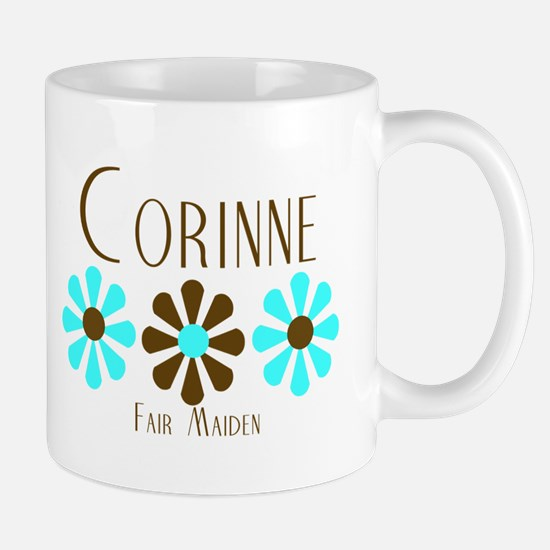 Corinne - Blue/Brown Flowers Mug