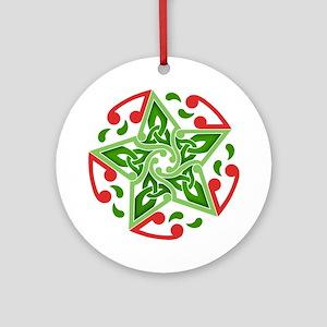 Celtic Christmas Star Ornament (Round)