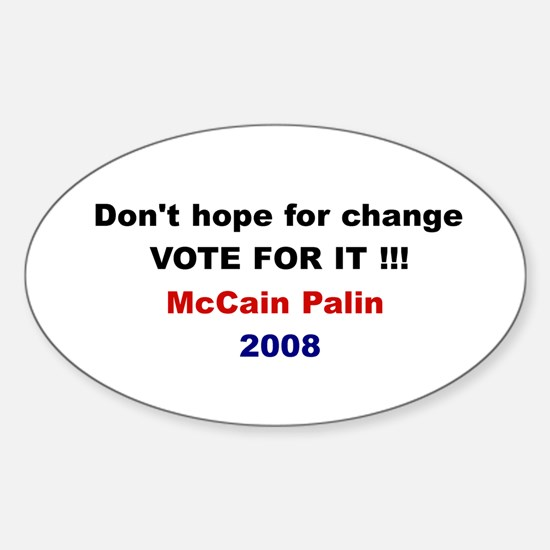 Vote for change Oval Decal