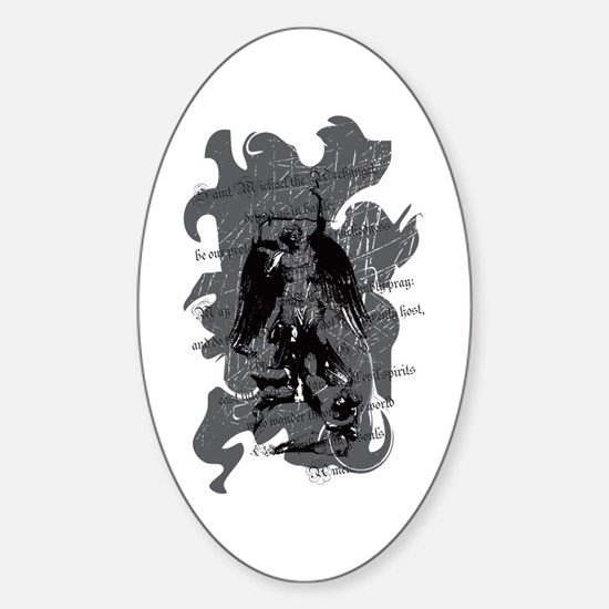St. Michael: Protection Sticker (Oval)