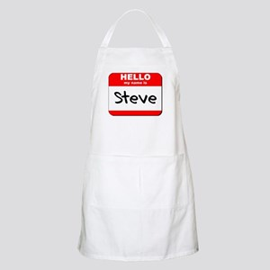 Hello my name is Steve BBQ Apron