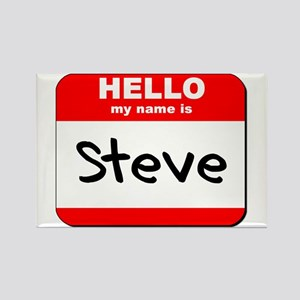 Hello my name is Steve Rectangle Magnet