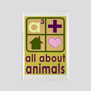 All About Animals Rescue Rectangle Magnet