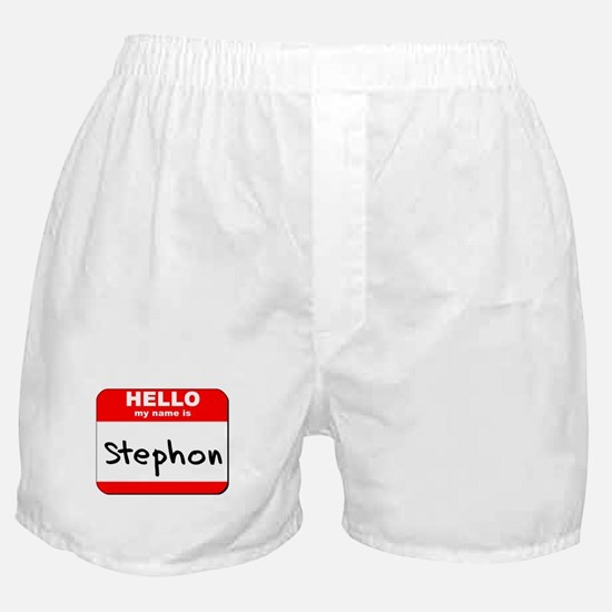 Hello my name is Stephon Boxer Shorts