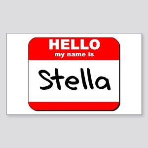 Hello my name is Stella Rectangle Sticker