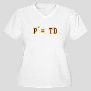 P2 = TD Women's Plus Size V-Neck T-Shirt