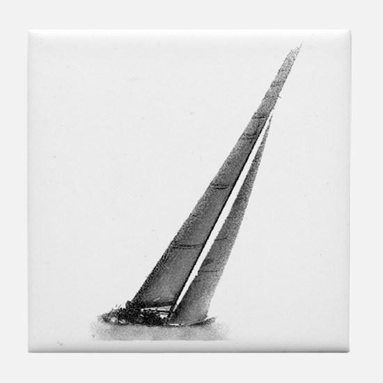 SailCloth's sailboat Tile Coaster