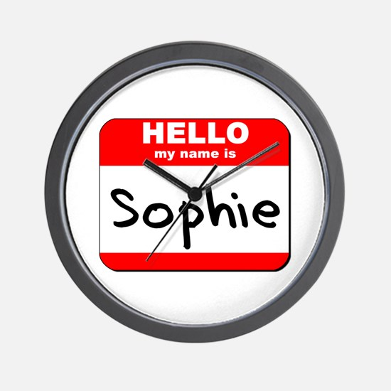 Hello my name is Sophie Wall Clock