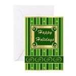 Happy Holidays Green Greeting Cards (Pk of 20)