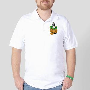 Boston in Pumpkin Golf Shirt