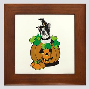 Boston in Pumpkin Framed Tile