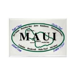 Maui - Been There Surfed That Rectangle Magnet (10