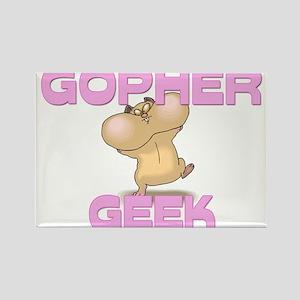 Gopher Geek Rectangle Magnet
