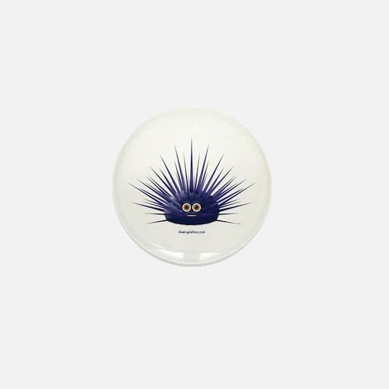 Purple Sea Urchin Mini Button