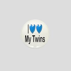 I Love My Twins Mini Button