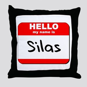 Hello my name is Silas Throw Pillow