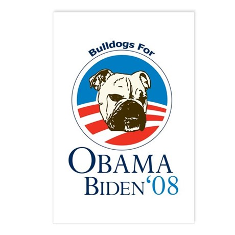 Bulldogs for Obama Postcards (Package of 8)
