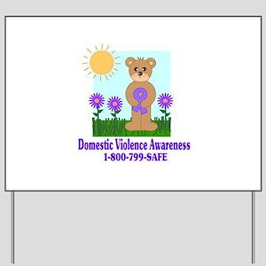 Stop Domestic Violence Yard Sign