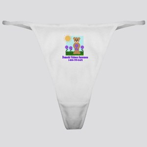 Stop Domestic Violence Classic Thong
