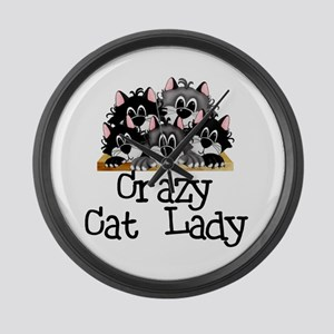 Crazy Cat Lady Large Wall Clock