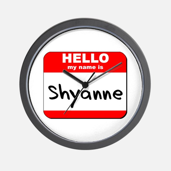 Hello my name is Shyanne Wall Clock