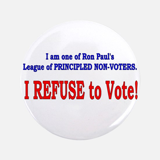 "NO VOTE #3 3.5"" Button"