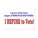 NO VOTE #3 Mini Poster Print