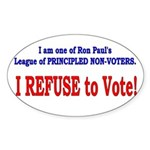 NO VOTE #3 Oval Sticker (10 pk)